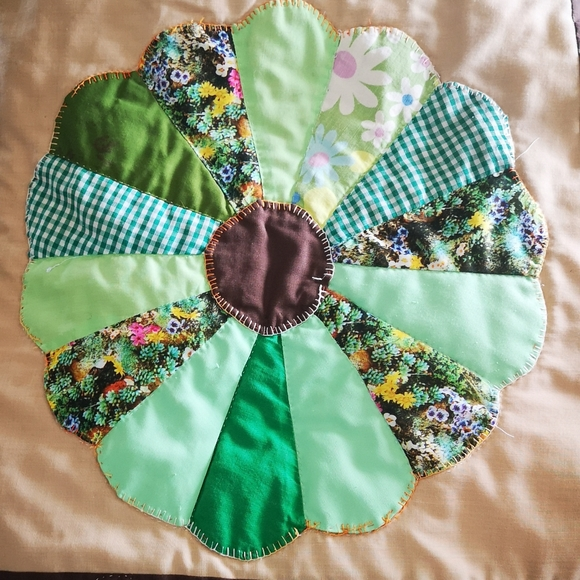 Vintage homemade quilt 1950s